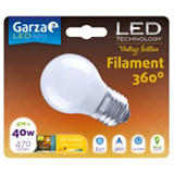 Garza Bombilla esférica estándar LED 4W casquillo E27, blanco cálido