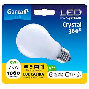 Garza Bombilla esférica estándar LED 9W casquillo E27, blanco cálido