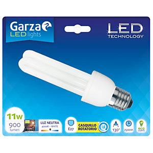 Garza Bombilla fluorescente LED compacta 11W casquillo E27, blanco neutro