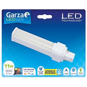Garza Bombilla fluorescente LED compacta 11W casquillo G24D 2PIN, blanco neutro