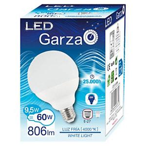 Garza Bombilla globo 220º LED 9,5W casquillo E27, blanco neutro