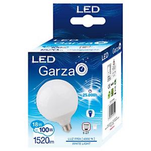 Garza Bombilla globo 270º LED 18W casquillo E27, blanco neutro