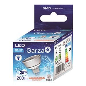 Garza Bombilla reflectora 110º de iluminación LED 2,5W casquillo GU5.3, blanco cálido