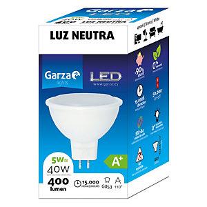 Garza Bombilla reflectora 110º de iluminación LED 5W casquillo GU5.3, blanco neutro