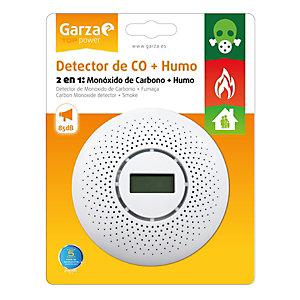 Garza Detector 2 en 1: monóxido de carbono + humo, blanco