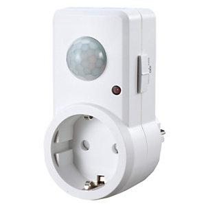 Garza Detector de movimiento infrarrojo para enchufe 120º, blanco
