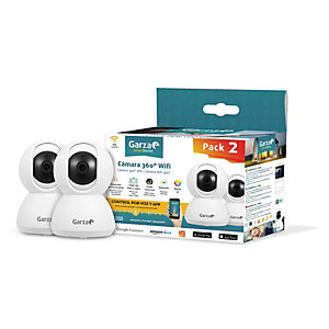 Garza SmartHome Cámara IP WIFI inteligente 360º, pack de 2