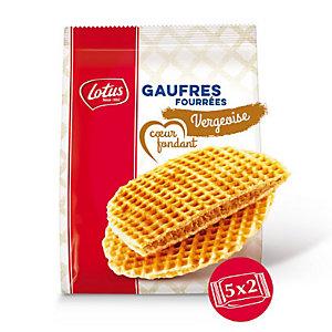 Gaufres Spéculoos -Lotus bakeries - 5 sachets de 2 gaufres fourrées Vergeoise