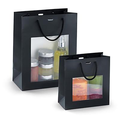 Gavepose med vindue i sort