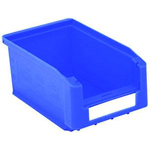 Gaveta de plástico para almacén 0,8 litros, azul