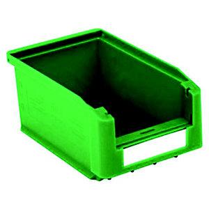 Gaveta de plástico para almacén 0,8 litros, verde