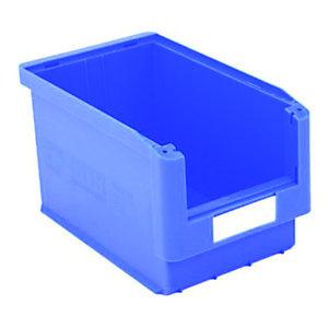 Gaveta de plástico para almacén 10 litros, azul