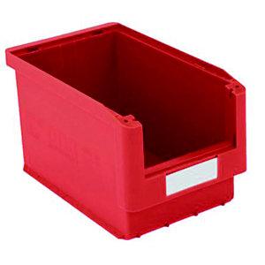 Gaveta de plástico para almacén 10 litros, rojo