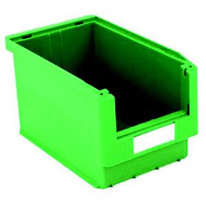 Gaveta de plástico para almacén 10 litros, verde