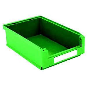 Gaveta de plástico para almacén 17 litros, verde