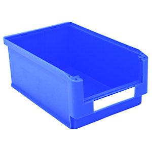 Gaveta de plástico para almacén 24 litros, azul