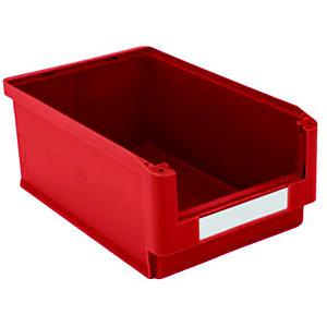 Gaveta de plástico para almacén 24 litros, rojo