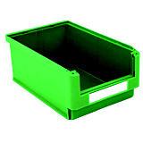 Gaveta de plástico para almacén 24 litros, verde