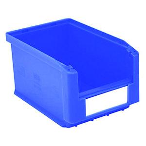 Gaveta de plástico para almacén 3 litros, azul