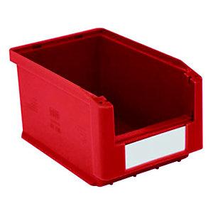 Gaveta de plástico para almacén 3 litros, rojo