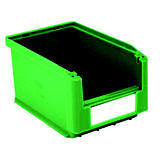 Gaveta de plástico para almacén 3 litros, verde