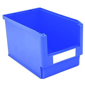 Gaveta de plástico para almacén 30 litros, azul