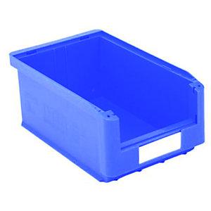 Gaveta de plástico para almacén 7,5 litros, azul