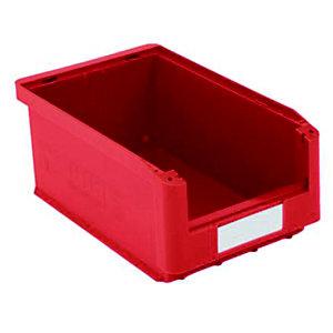 Gaveta de plástico para almacén 7,5 litros, rojo