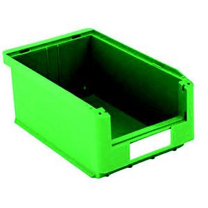 Gaveta de plástico para almacén 7,5 litros, verde