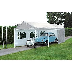 Gazebo rettangolare Car Parking, 3 x 6 m, Bianco