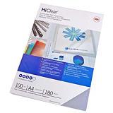 GBC HiClear Cubiertas de encuadernación, A4, PVC, 180 micras, transparente