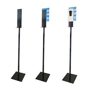 GBC Piantana porta dispenser per liquido o gel igienizzante per mani Gelly, Nero