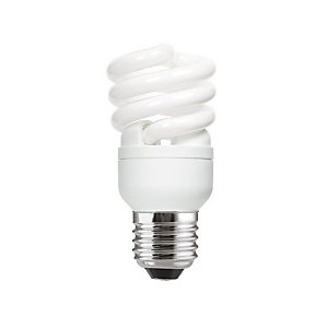 GE Ampoule Fluocompacte - 2 tubes spirales – Culot E27 - 12W - 715 lumens - 2700K