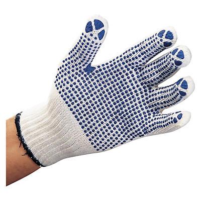 Gants tricotés à picots sur la paume##Gebreide katoenen handschoenen met noppen