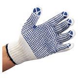 Gebreide katoenen handschoenen met noppen