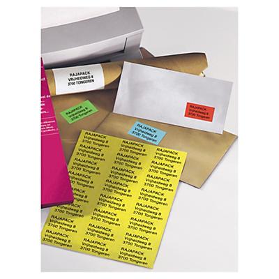 Étiquette couleur - Adhésif permanent##Gekleurd etiket - Permanent klevend