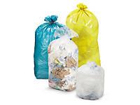 Gekleurde afvalzakken