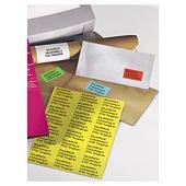 Gekleurde etiketten