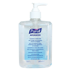 Gel hydroalcoolique Purell, flacon pompe de 500 ml