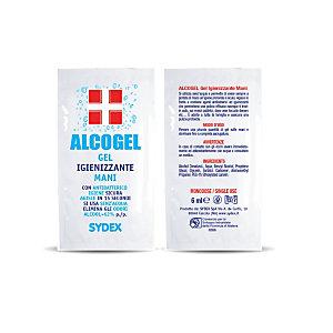 Gel lavamani igienizzante con antibatterico Alcogel, Bustina monodose da 6 ml (confezione 500 pezzi)