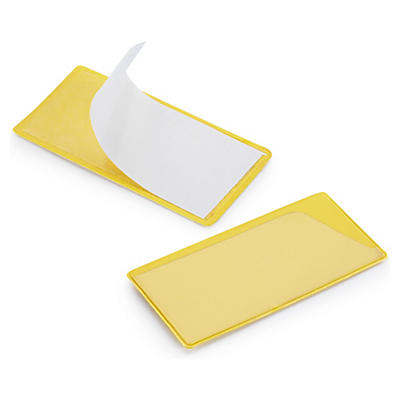 Gelbe Etikettenhalter