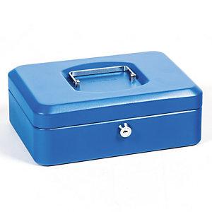 Geldkist  25 cm 3 vakken kleur blauw