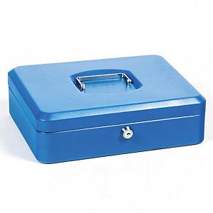 Geldkist  30 cm 5 vakken kleur blauw