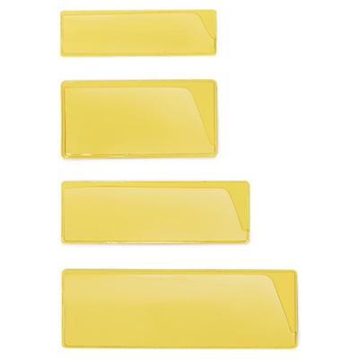Porte-étiquette jaune - Fixation adhésive##Gele etikethouder - Zelfklevende hechting