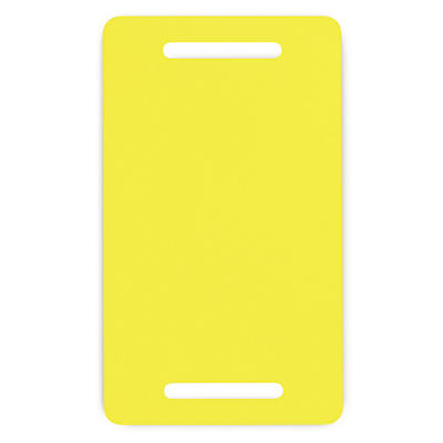 Étiquettes PVC jaune pour feuillard##Gele etiketten PVC voor omsnoeringsband