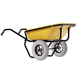 Gele kruiwagen Expert Twin Excellium 160 L met lekvrije banden