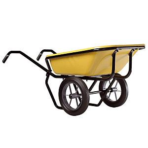 Gele kruiwagen Expert Twin Excellium 160 L volle banden