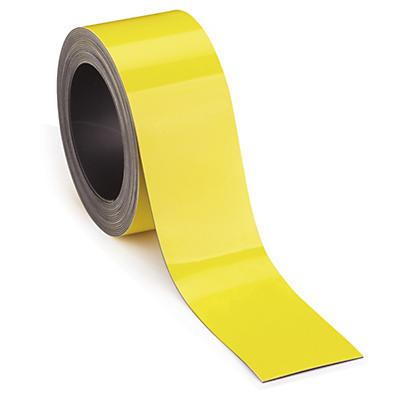 Gele magnetische etiketten op rol