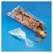 Gennemsigtig flad plastikpose