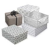 Geschenkpapiere Nordic in Weiß – Silber/Grau